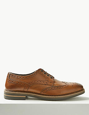 Leather Trisole Brogue Shoes