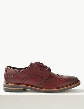 Leather Trisole Lace-up Brogue Shoes