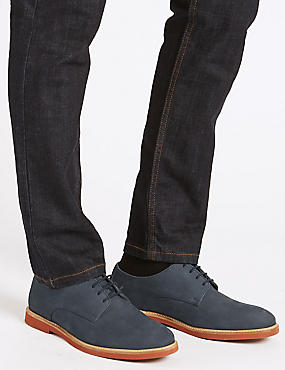 Lace-up Derby Shoes, NAVY, catlanding