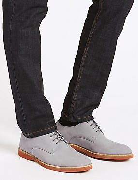 Lace-up Derby Shoes, GREY, catlanding