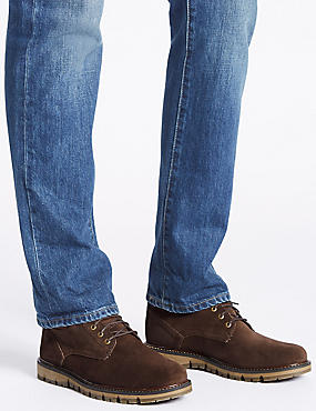 Suede Lace-up Boots, BROWN, catlanding
