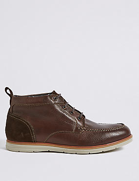 Big & Tall Leather Chukka Lace-up Boots
