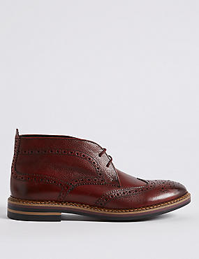 Leather Brogue Chukka Boots