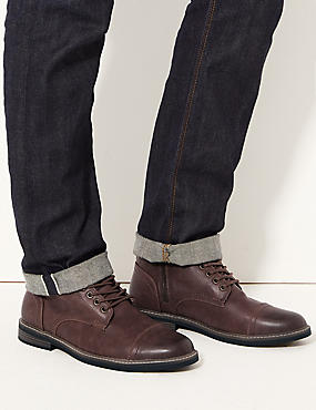 Lace-up Chukka Boots, BROWN, catlanding