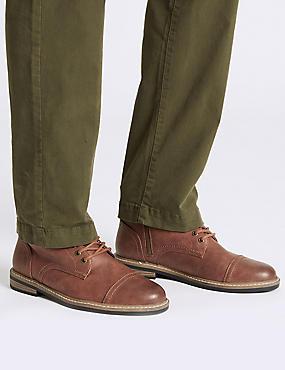 Lace-up Chukka Boots, TAN, catlanding