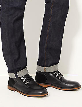 Lace-up Chukka Boots, BLACK, catlanding
