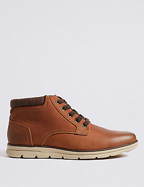 Lace-up Chukka Boots, TAN, catlanding
