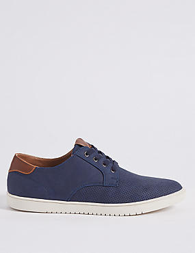 Lace-up Trainers, NAVY, catlanding