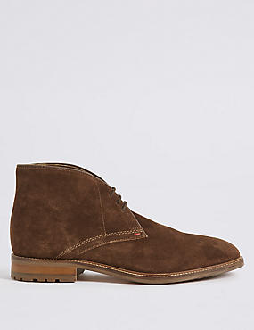 Big & Tall Suede Lace-up Chukka Boots