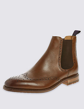 Brogue Chelsea Ankle Boots