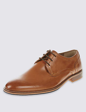 Leather Layered Sole Lace-up Derby Shoes, NATURAL TAN, catlanding