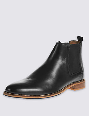 Leather Chelsea Pull-on Boots