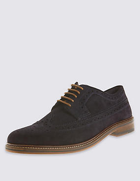 Suede Heritage Brogue Shoes