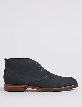 Suede Lace-up Chukka Boots