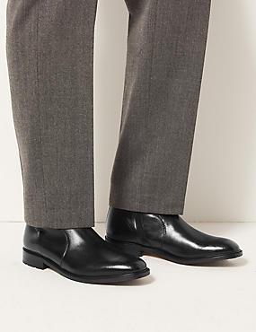 Leather Chukka Boots, BLACK, catlanding