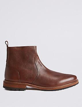 Leather Chukka Boots, TAN, catlanding