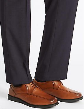 Extra Wide Leather Shoes with Airflex™, TAN, catlanding