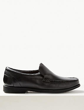 Extra Wide Leather Loafers with Airflex™