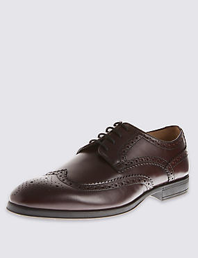 Leather Derby Brogue Shoes with Airflex™