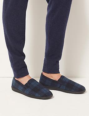 Slip-on Slipper Shoes with Freshfeet™, NAVY MIX, catlanding