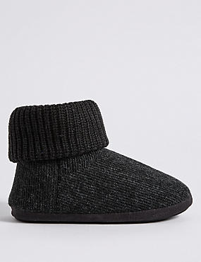 Knitted Slip-on Boots with Freshfeet™