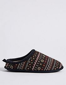 Fairisle Mule Slippers with Freshfeet™