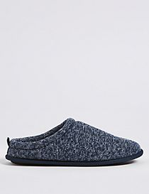 Knitted Slip-on Mule Slippers with Freshfeet™
