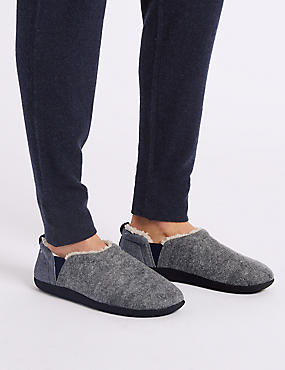 Slip-on Slippers with Freshfeet™, GREY MIX, catlanding