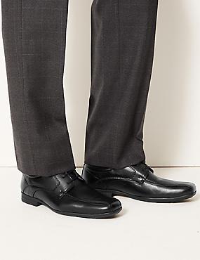 Stitch Detail Lace-up Shoes, BLACK, catlanding
