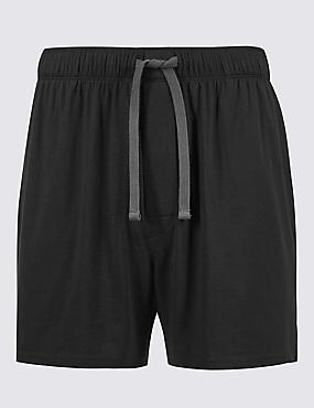 Shorter Length Modal Blend Short, BLACK, catlanding