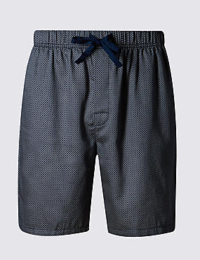 Supima® Cotton Slim Fit Dogtooth Print Pyjama Shorts