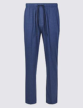 Modal Blend Long Pyjama Bottoms, DENIM, catlanding
