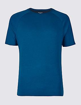 Slim Fit Modal Blend Pyjama Top, DARK PETROL, catlanding