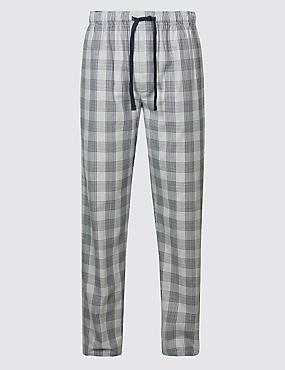 Supima® Cotton Slim Fit Pyjama Bottoms, GREY MIX, catlanding