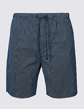 Supima® Cotton Spotted Shorts , BLUE MIX, catlanding