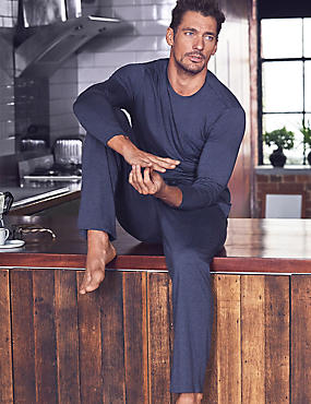 Modal Blend Pyjama Top, DENIM, catlanding