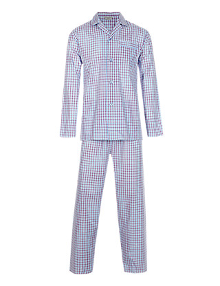 Easy Care Gingham Checked Pyjamas Clothing