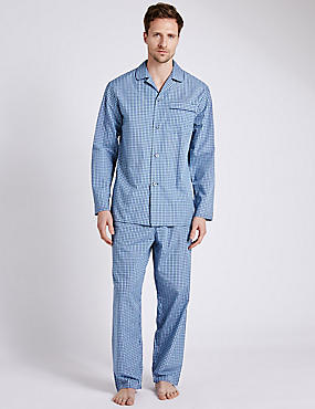 Easy Care Mini Checked Pyjamas