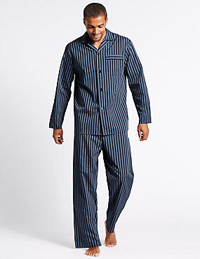 Cotton Blend Striped Pyjamas