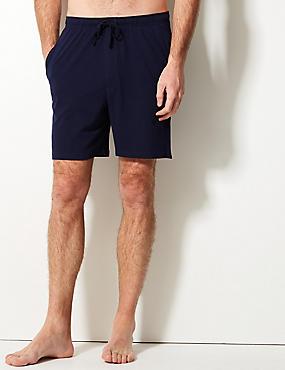2 Pack Pure Cotton Stay Soft Pyjama Shorts, NAVY/BLUE, catlanding