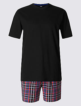 Pure Cotton Checked Pyjama Short Set
