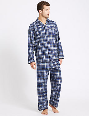 2in Longer Pure Brushed Cotton Pyjama Set