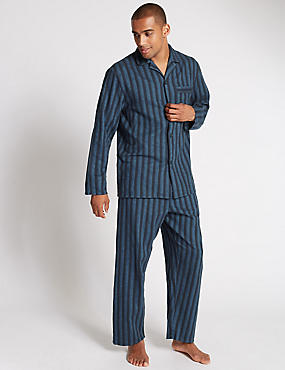 Brushed Cotton Stay Soft Striped Pyjamas