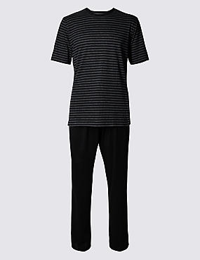 Cotton Rich Striped T-Shirt & Trouser Set