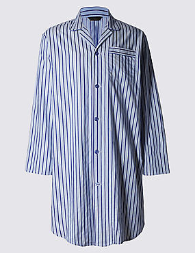 Pure Cotton Classic Striped Nightshirt