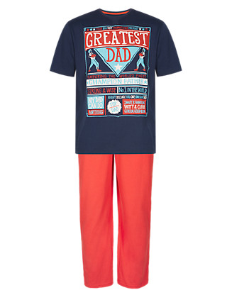 Pure Cotton Boxing Dad Pyjamas Clothing