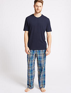 Pure Cotton Checked Pyjama Set