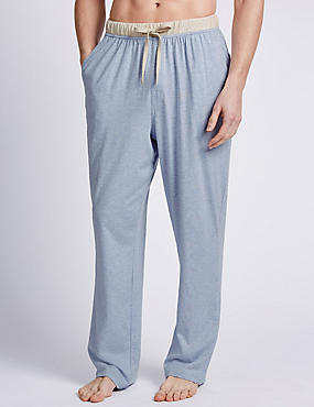 2in Longer 2 Pack Pure Cotton Long Pant Pyjama Bottoms