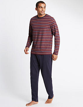Pure Cotton Jersey Striped Pyjamas