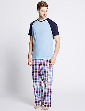 Pure Cotton Stay Soft Checked Pyjamas